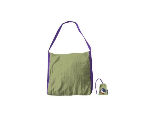 エコマーケットバッグ【カラー】カーキ×パープル /チケットトゥーザムーン