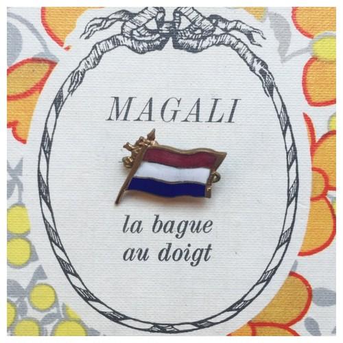 ヴィンテージ ブローチ 国旗 オランダ