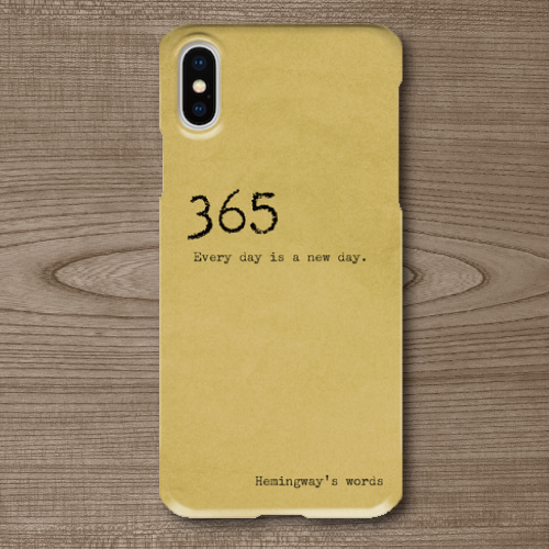 名言・格言/タイプライター文字/ヘミングウェイ/Everyday/古い手紙調/iPhoneスマホケース(ハードケース)