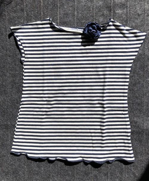 Malvi 紺ボーダーTシャツ