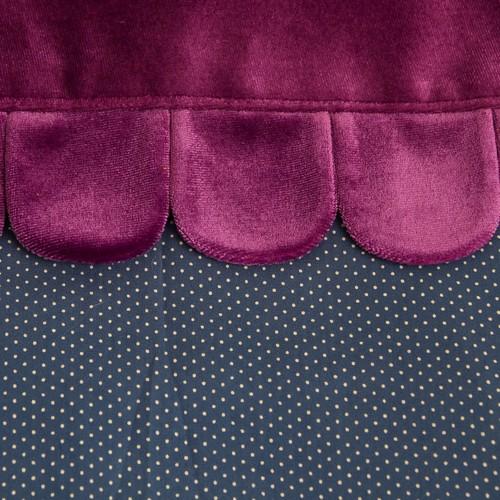 バッグインクラッチお花/紫