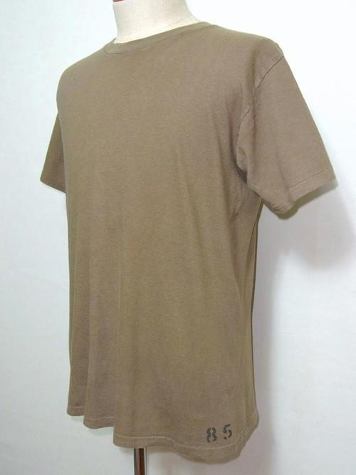 '85 U.S.ARMY クルーネックTシャツ ステンシル ブラウン 表記(M)