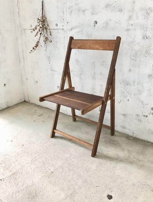 木製の折り畳みチェア[古家具]