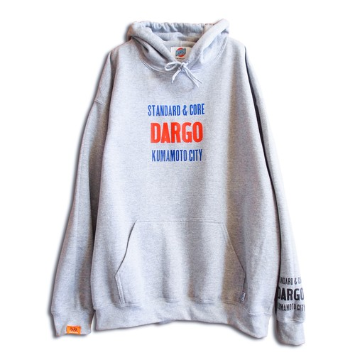 "【DARGO】""活版 Logo"" Pull Over Hoodie (HEATHER GRAY)"