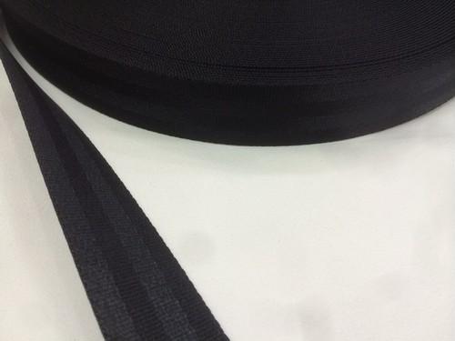 ナイロン ベルト 二ツ山織 30㎜幅 1.6㎜厚 黒 1反(50m)