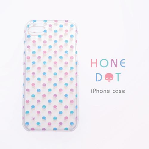 カラフル骨ドットクリアiPhoneケース(大きいサイズ)