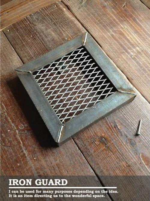 数量限定 IG-25 換気扇 カバー 吸排口 ガード インダストリアル  アイアン 通気口 アイアンガード 鉄格子 鉄柵