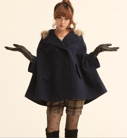 リアルファー付ミディアムコート◆全2色◆