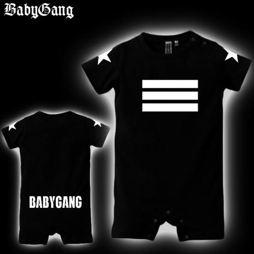 BabyGang ロンパース 半袖 (Logo4)