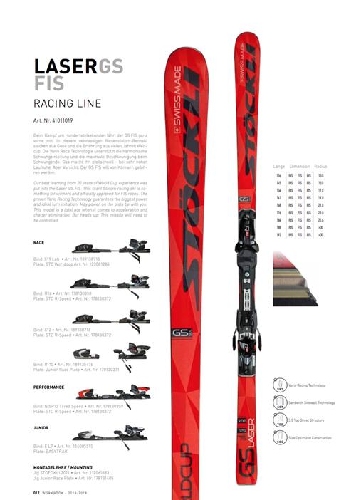 17'-19'|LASER GS FIS / R16 black X70