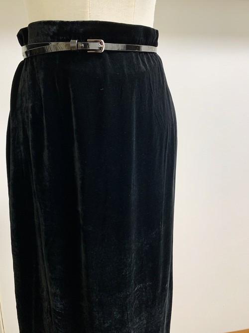 Vintage Velvet Wrap Skirt