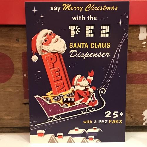 PEZ ペッツ ポストカード (厚紙仕様) クリスマス U.S.A.製 2003年