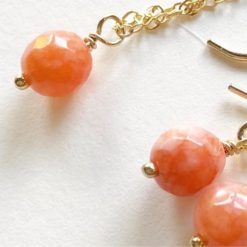 あなたを憧れの存在へと変える 【オレンジジェイドのネックレス】ピアスプレゼント付き!