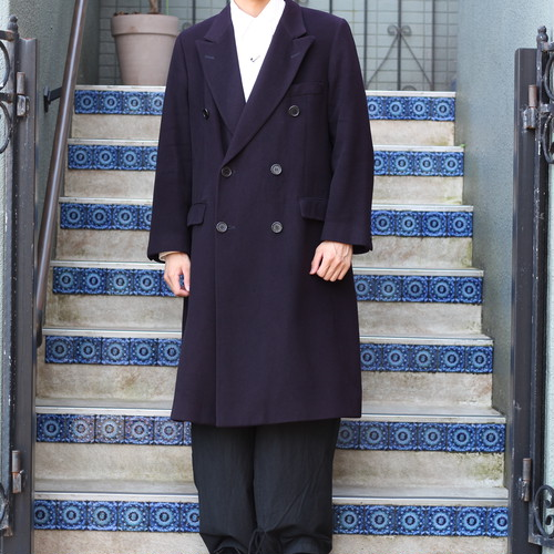 .Aquascutum CASHMERE100% DOUBLE CHESTERFIELD COAT MADE IN ENGLAND/アクアスキュータムカシミヤ100%ダブルチェスターフィールドコート2000000055770