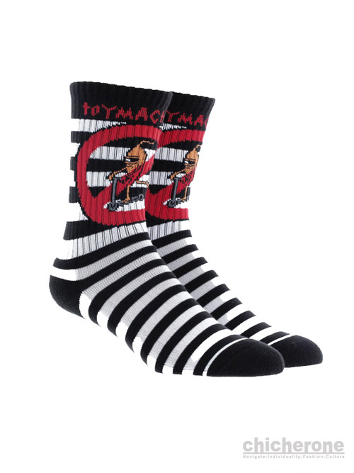 【TOY MACHINE】NO SCOOTER SOCKS BLACK/WHITE