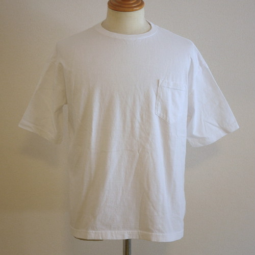 OMIYAGE Big Muji Tee With Pocket White