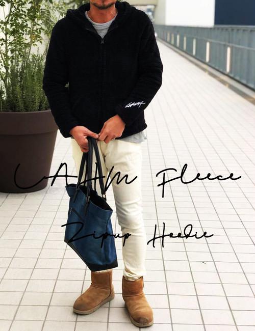 【在庫残りわずかです】LAHM Fleece Zip-up Hoodie/フリースジップアップフーディ LAHM(エルエーエイチエム)