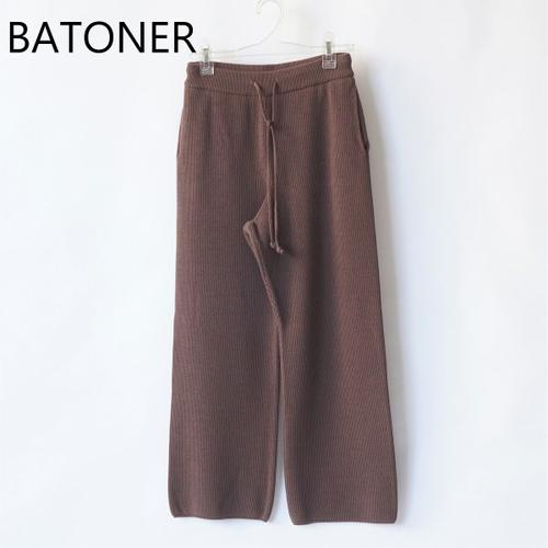 BATONER/バトナー・Hard Twist Wool Knit Pants