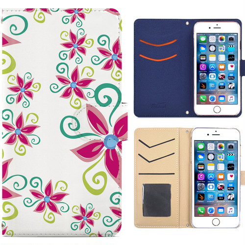 全機種対応 手帳型ケース iPhone Xperia Zenfone Aquos Galaxy Arrows Huawei Digno Raijin JDC158flower