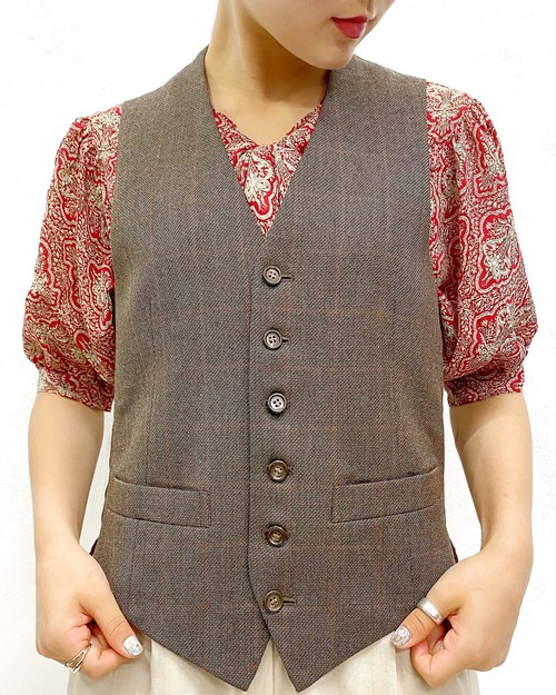 (PAL) plaid n/s vest
