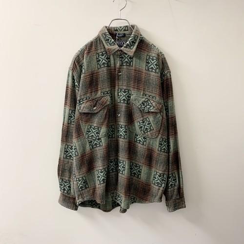 ネパール製 コットンシャツ グリーン系 size L メンズ 古着