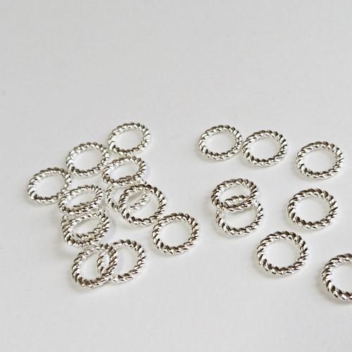 デザインリングパーツシルバー・10mm(2個入り) [H02-028]