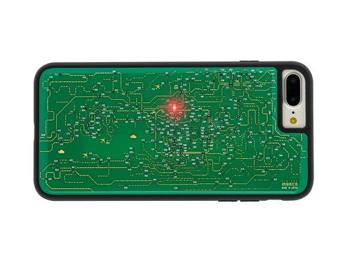 FLASH 関西回路線図 iPhone7/8 Plus ケース 緑【東京回路線図A5クリアファイルをプレゼント】