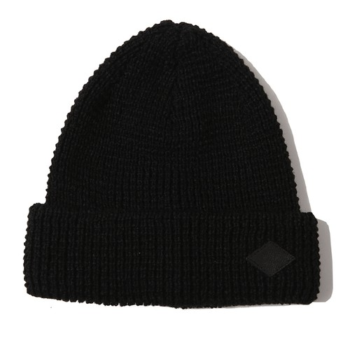 WAFFLE STITCH KNIT CAP (BLACK) / RUDE GALLERY BLACK REBEL