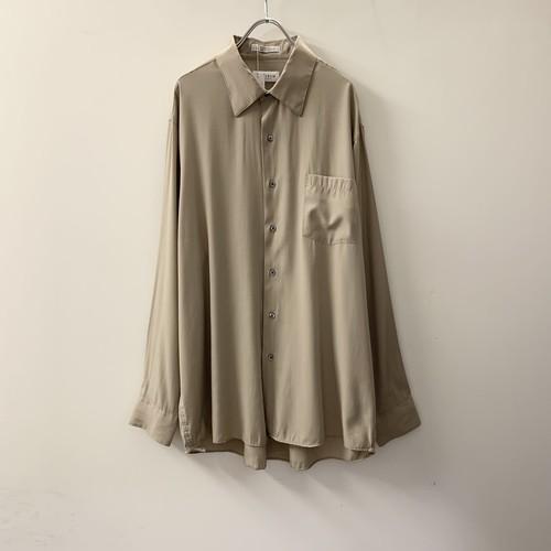 VAN HEUSEN レーヨン/ポリエステル シャツ ベージュ size XL メンズ 古着