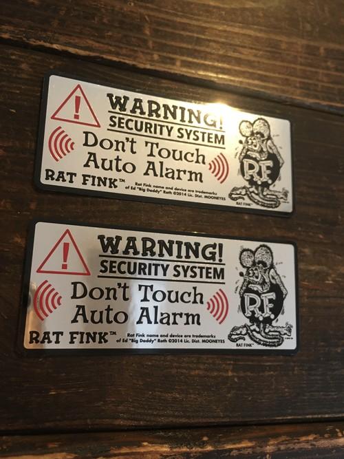 RATFINK「ラットフィンク セキュリティーステッカー」防犯 アラーム ◆1枚◆