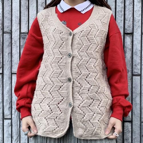 (LOOK) design knit vest