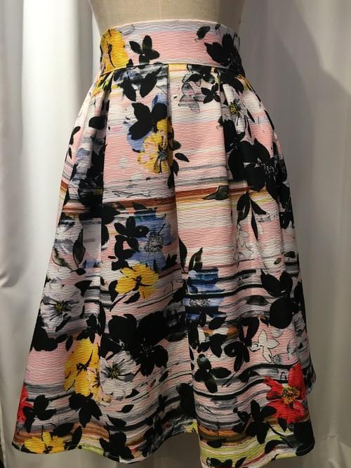 華やか☆ピンク花柄スカート