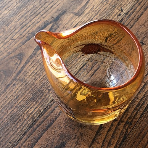 ガラス工房橙さんの橙銀箔入片口