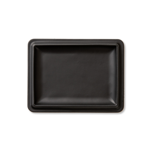 colm Leather Tray L Black