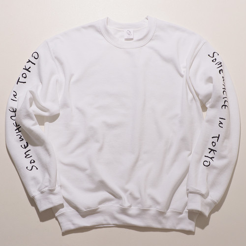 Sweat Shirt  / Designed by Joji Nakamura -WHITE