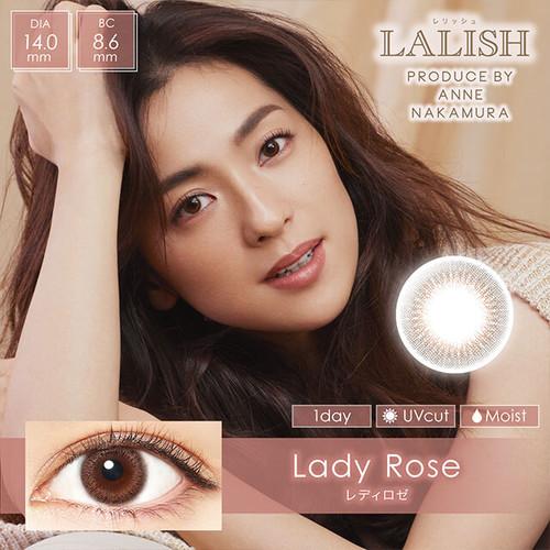 レリッシュ ワンデー(LALISH 1day)《Lady Rose》レディロゼ[10枚入り]