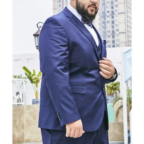 送料無料大きいサイズスーツセットアップシングルジャケット+パンツ黒青ネイビー