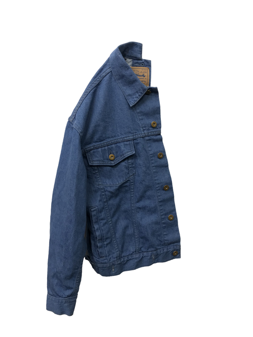 【No. BS609-R】 Unisex Docking Jean Jacket-Right