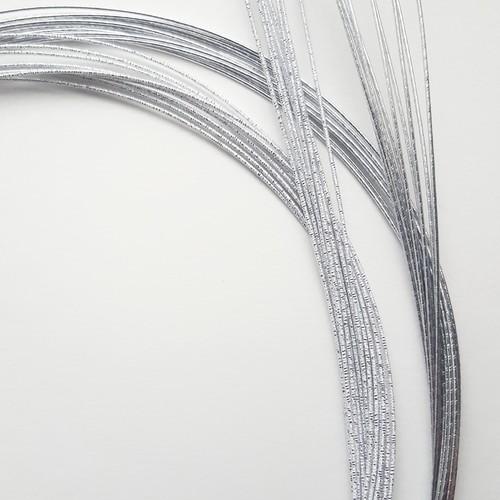 水引素材ー基本色(20本) 白金色