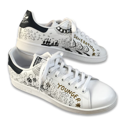 YOUNGER GENERATION hand-paint sneaker / Limited 30