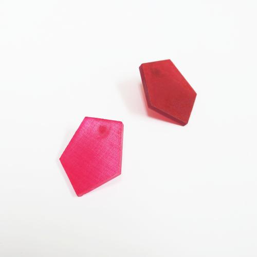 草木染/幾何学片耳用ピアスイヤリング/E-6_P_PD