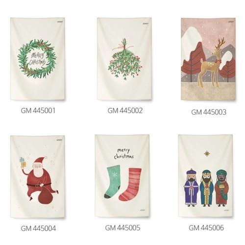 Christmas fabric poster M size 6types / クリスマス ファブリックポスター タペストリー 韓国雑貨 北欧