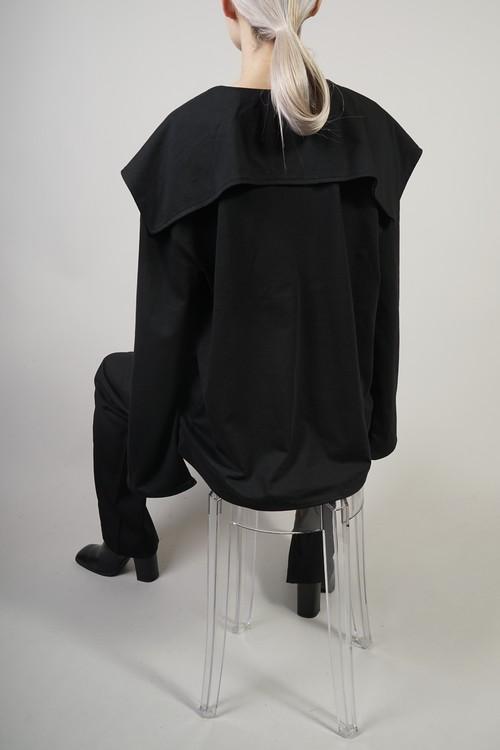 SAILOR COLLAR TOPS  (BLACK)2009-43-125