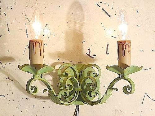 アイアンブラケット2灯(グリーン)