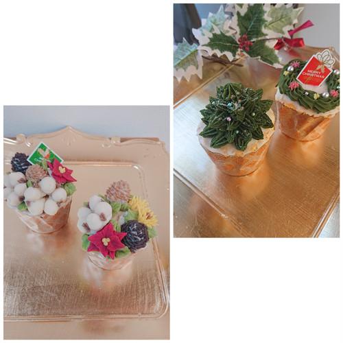 クリスマスカップケーキ(あんクリーム)