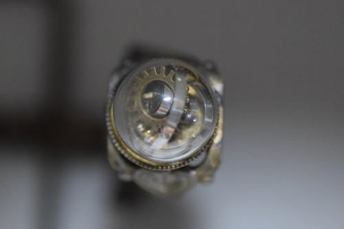 時計部品の指輪 15mmガラスドーム roku倉敷 steampunks