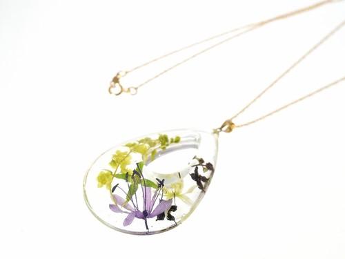 山野草 森の花の大きな雫のペンダント(スプリングエフェメラルとヤマボウシ…)・14kgf