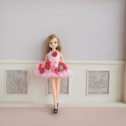 リカちゃんミニドレス(ピンク1)
