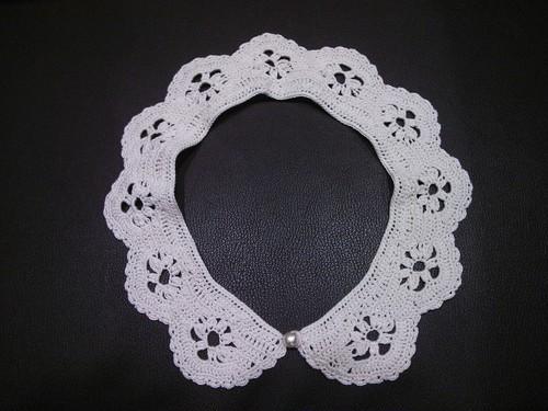 かぎ編みつけ衿
