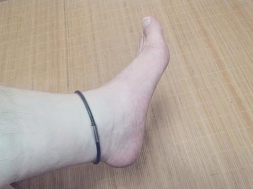 特許新素材・メタルメガ炭素スッキリリング  足首用シリコン製 健康楽々くん